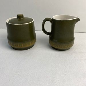 Mid Century Modern Style Sugar and Creamer Japan